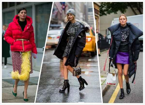 羽绒服搭配裙子 冬天也可以任性扮靓