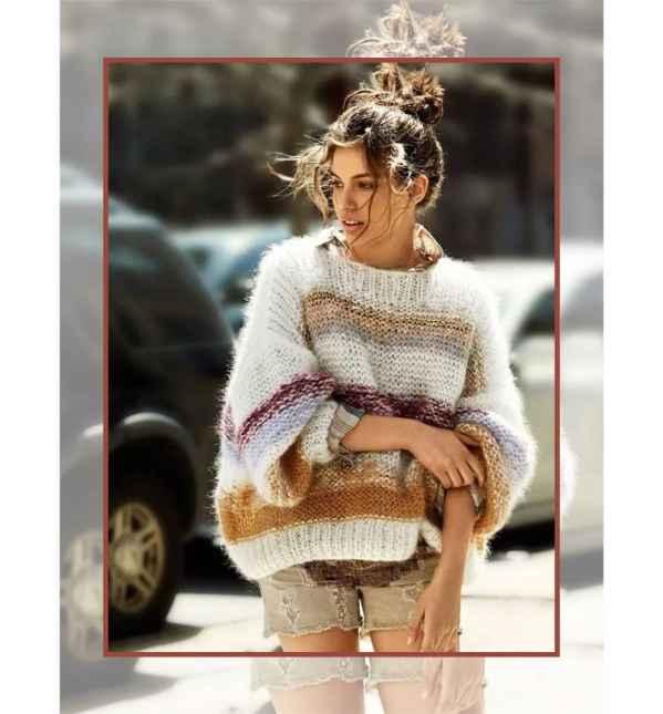 宽松毛衣搭配什么外套好看  宽松毛衣全身搭配图片