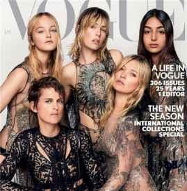 《Vogue》英国版2017年封面合辑  超模新模合辑你喜欢哪一封?