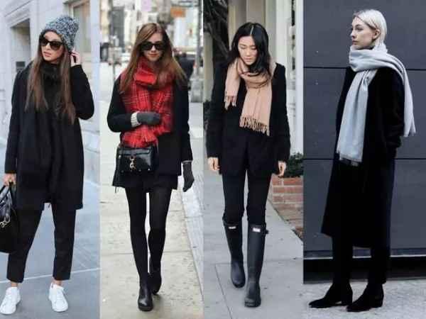 围巾搭配小心机 这个秋冬时髦和温暖全都有了