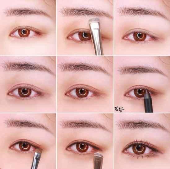 简易眼妆的画法步骤图解 十款眼妆画法步骤教程