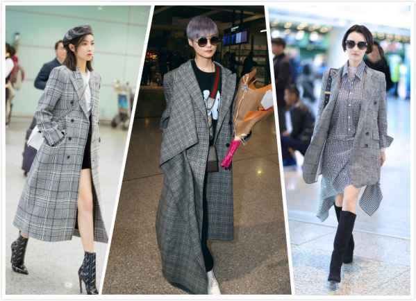 灰色格子大衣搭配图片 让你一整个冬天都气质满满