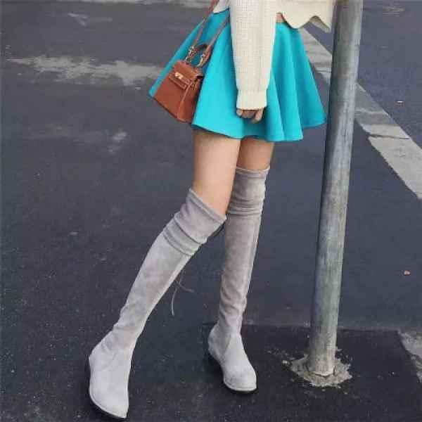 矮个子长靴穿搭图片 相信我吧矮个子女生能穿出1.7米的气场