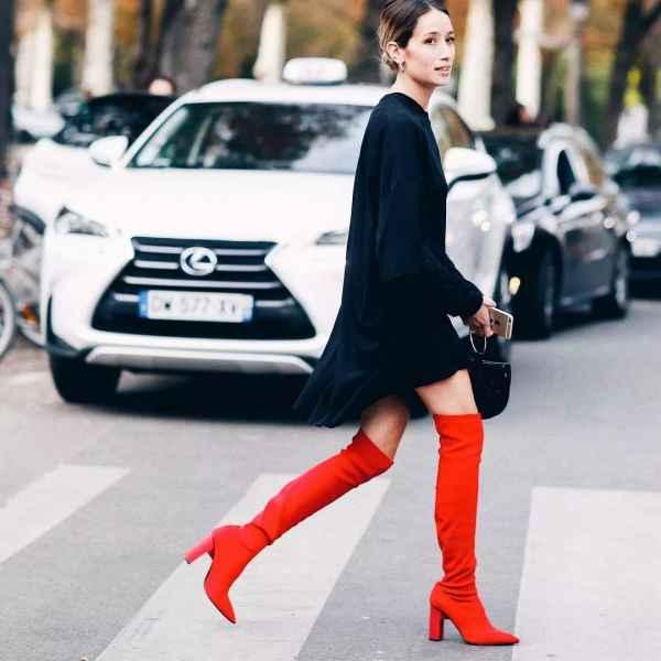 矮个子女生过膝长靴搭配 矮个子女生穿上长靴更加显高