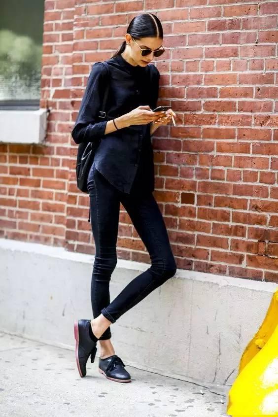 Xikasi黑色打底裤更显瘦