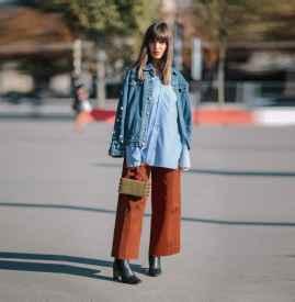 焦糖色阔腿裤配什么鞋 不同的搭配演绎不同的风格