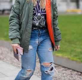 冬季破洞牛仔裤搭配 玩味个性更时髦