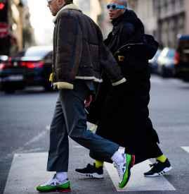 男士阔腿裤搭配上衣图片 冬天也要有型