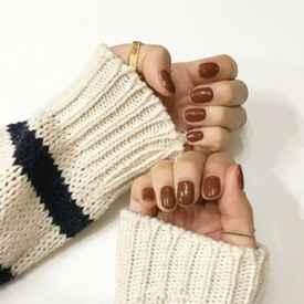 美甲图片纯色冬季 简简单单也够美