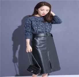 冬季皮裙搭配图片 皮裙正确的冬季穿搭示范介绍