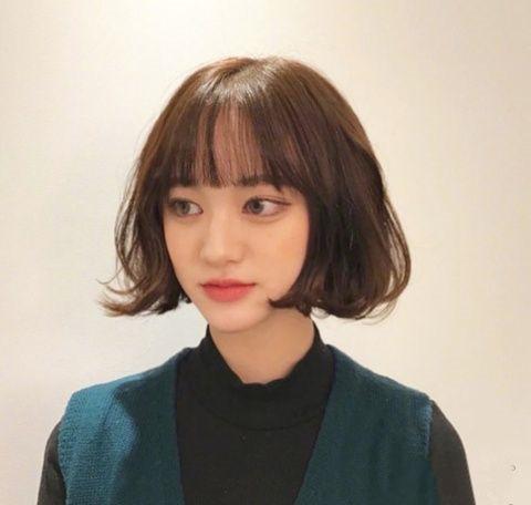 小女生短发发型图片 真心甜美又时髦好看