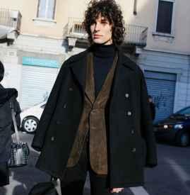 高领毛衣男 男款高领毛衣冬季搭配