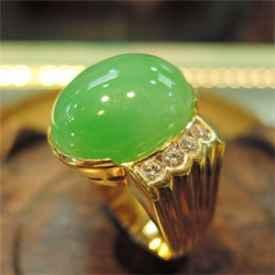 男士翡翠戒指镶嵌款式图片 体现品味彰显身份