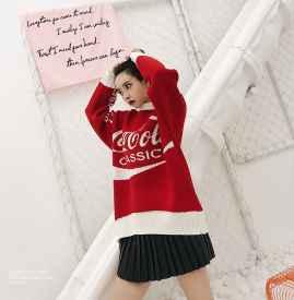 红色毛衣怎么搭配下身 裤子裙子统统能Hold住