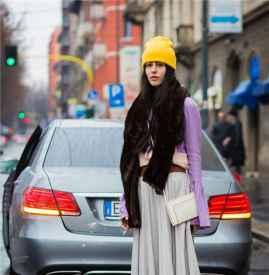 """针织帽配什么衣服 跟着达人花样过冬美丽不""""冻""""人"""
