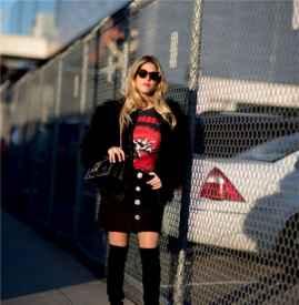 黑色皮草外套怎么搭配  时尚气场这样穿出来