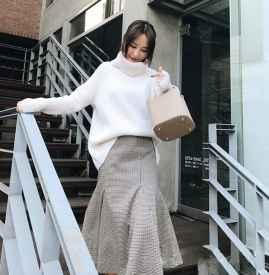 白色毛衣配什么裙子 优雅甜美集于一身
