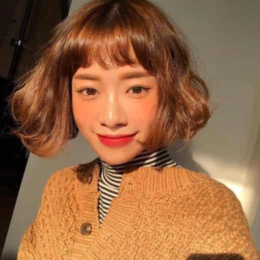 2018短发流行颜色 短发染发后也可以这么美图片