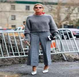 毛衣与阔脚裤搭配 毛衣与阔脚裤这样搭配好看