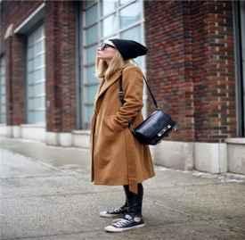 大衣与运动鞋搭配图片 大衣与运动鞋这样搭配美爆