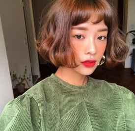 2018年短发烫发图片 时髦短发烫发必不可少