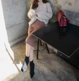 针织裙配什么鞋子图片 各种混搭才时髦哦