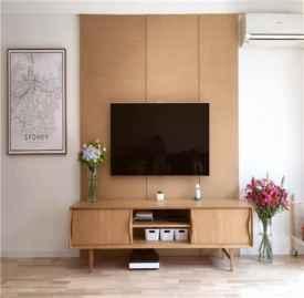 原木风电视墙装修风格 这样的电视墙装修美爆了