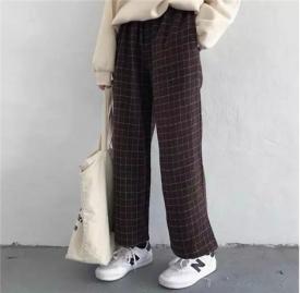 阔腿裤与小白鞋搭配图片 这样穿搭简单时髦又舒适