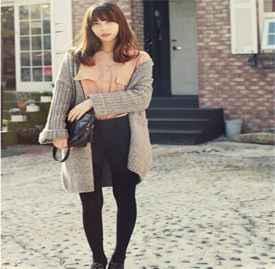 春季針織開衫搭配圖片 針織衫這么穿才最好看