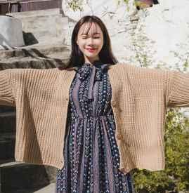 雪纺长款连衣裙配外套 这4种搭配让你美成仙