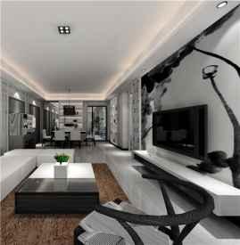 现代简约风格电视背景墙效果图 教你怎么选择背景墙