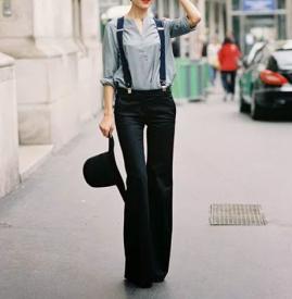 背带裤里面怎么搭配 这么穿时尚又减龄