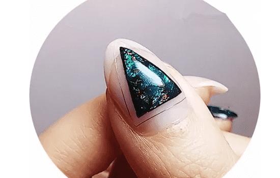 星空美甲教程 让你的手指有星星