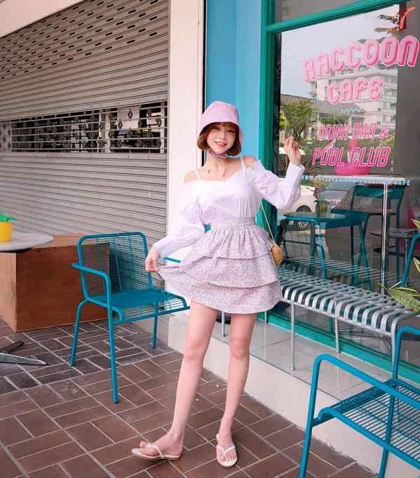 雪纺半身裙搭配什么上衣,显得高级又气质!