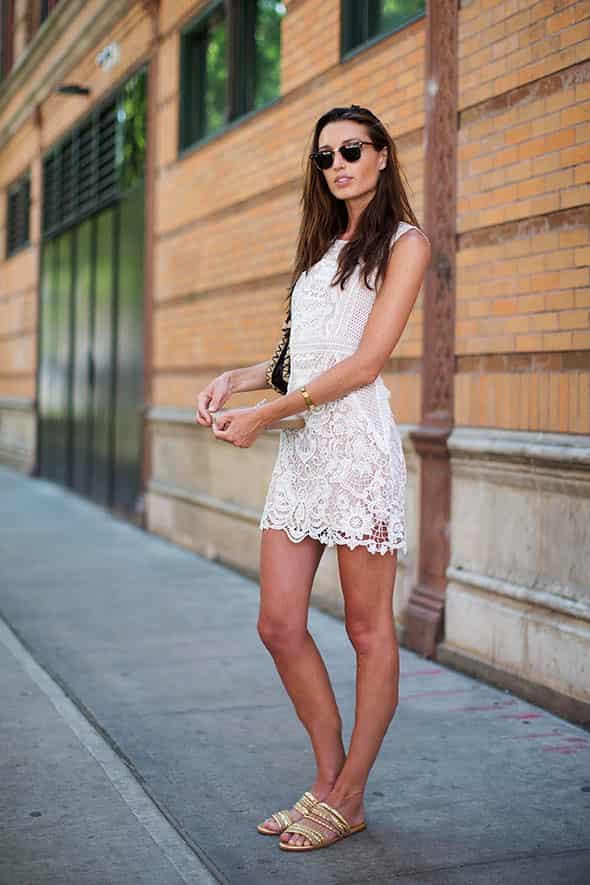 白色连衣裙配什么鞋子 清新显瘦才与夏天最般配