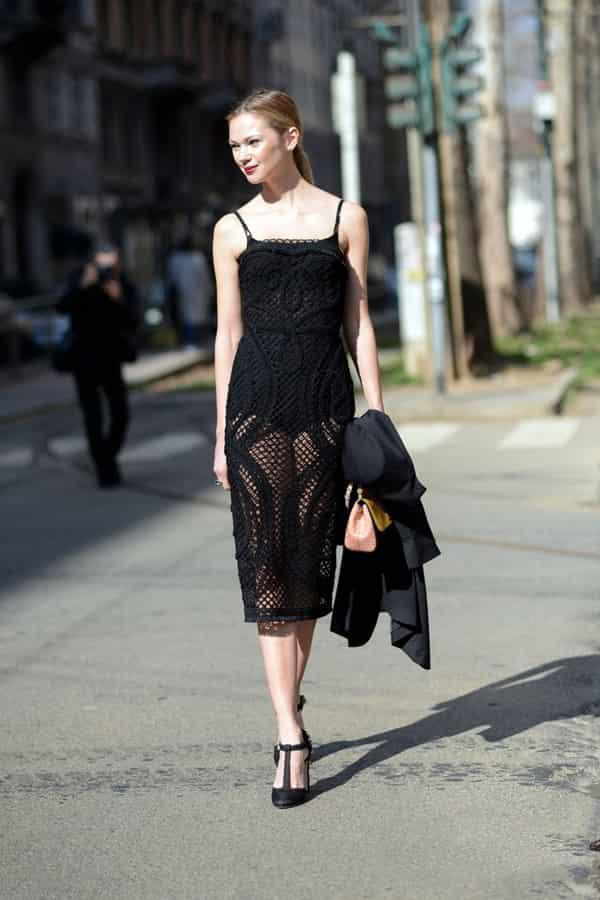蕾丝连衣裙搭配 各颜色搭配连衣裙简直迷死人