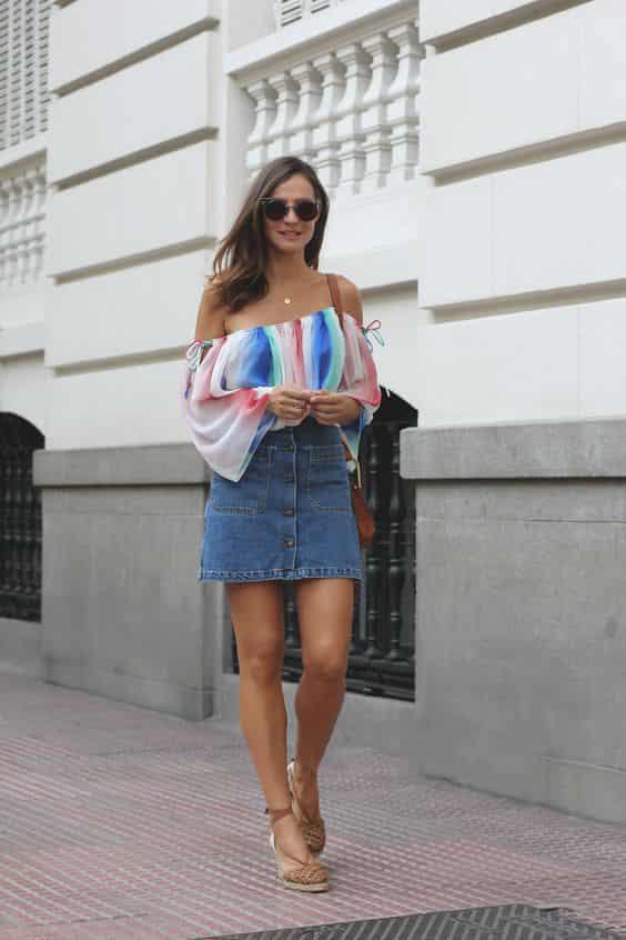 夏季短裙搭配图片 穿上谁都能时髦又显瘦