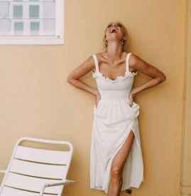 白色连衣裙搭配图片 清爽小白裙才是夏日法宝