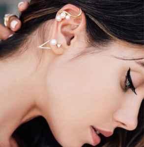 珍珠耳环图片 复古优雅让你心动