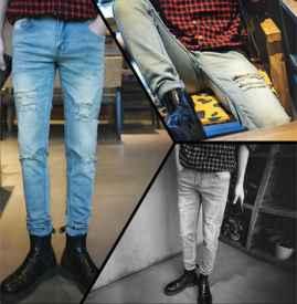 破洞牛仔裤配什么鞋子男 穿出不一样的高级感