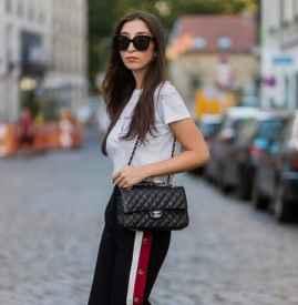 开衩阔腿裤怎么搭配 清爽时髦简直就是显瘦神器