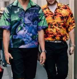 印花衬衫怎么搭配 孔雀男的千面造型