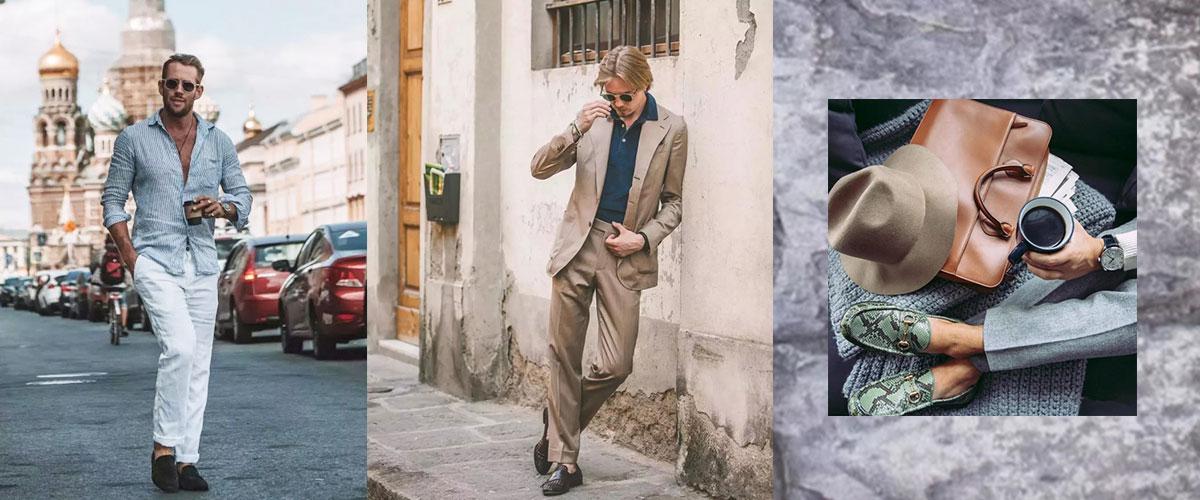 盛夏来临,又到了考验男人们穿鞋品味的时候了。球鞋虽然舒适但是不透气,凉鞋虽然透气但不正式,牛津鞋正式但是不舒适,乐福鞋自然成了品味男士最佳选择。