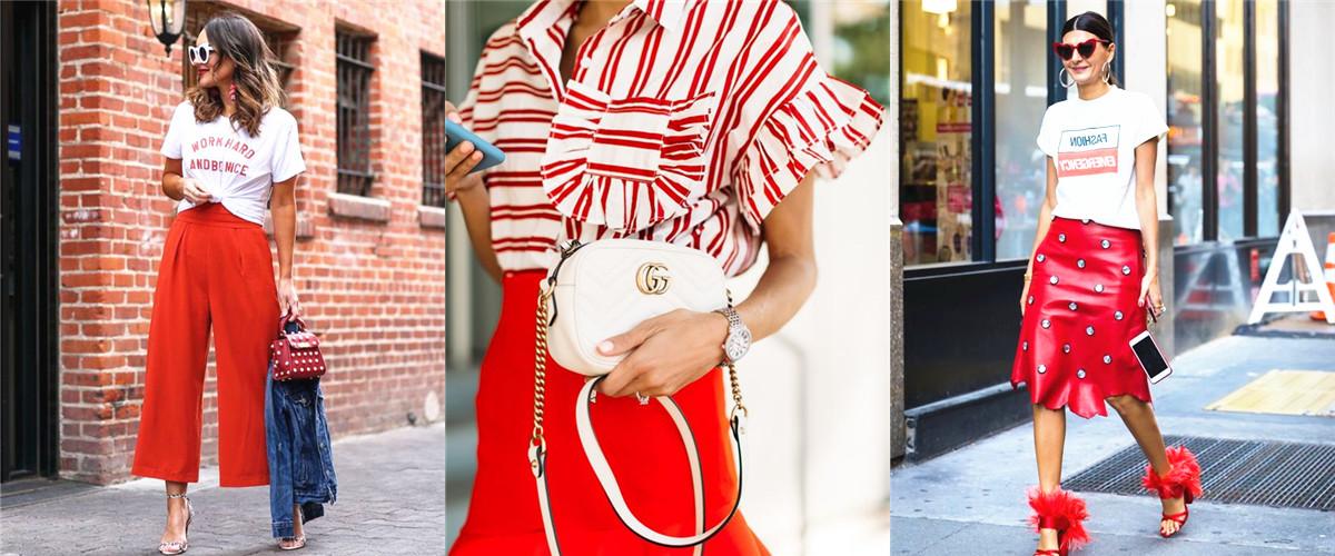 """美国时装领袖Bill Blass说""""红色是悲伤的终极良药?!倍隳味吭蛩蛋咨赖奈扌缚苫?,红色和白色搭配能让万事万物看上去平静又美妙。"""