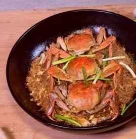 蟹黄粉丝煲的做法
