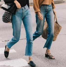 2018年流行什么牛仔褲 今秋這樣的牛仔褲才時髦