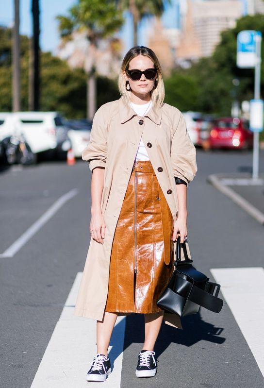 秋天皮裙怎么搭配 今年秋天是该皮一下了