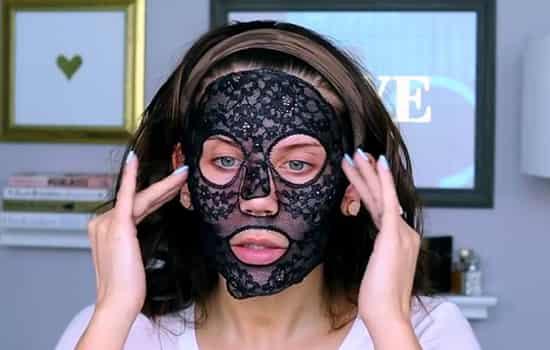 纪梵希墨藻面膜怎么用 把蕾丝敷在脸上