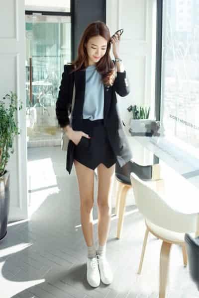 女生運動鞋搭配什麼襪子 甜美減齡層層疊搭才夠IN