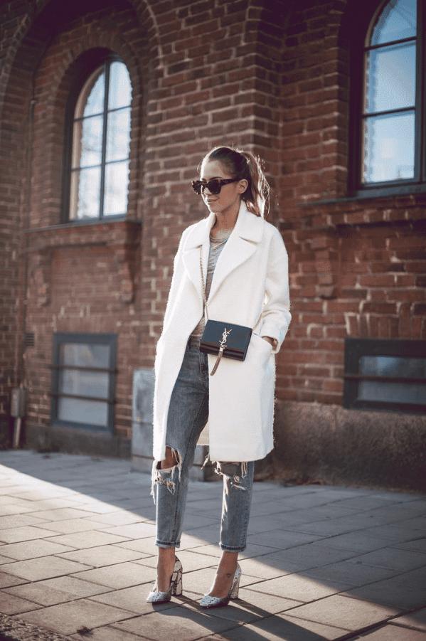 白色呢子大衣搭配什么鞋子 化身时尚仙女漫步冬日街头